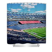 Elevated View Of Gillette Stadium, Home Shower Curtain