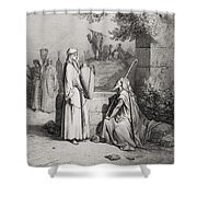 Eliezer And Rebekah Shower Curtain