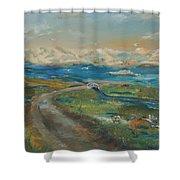 Elkhorn Slough Shower Curtain