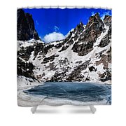 Emerald Lake In Rocky Mountain National Park Shower Curtain