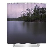 Emerging Light Shower Curtain
