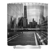 Empty Sky Memorial And The Freedom Tower Shower Curtain
