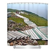 End Of Skyline Trail In Cape Breton Highlands Np-ns Shower Curtain
