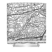 England Railroad Map Shower Curtain