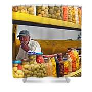 Ensenada Olive Stand 04 Shower Curtain