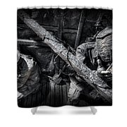 Entrenched Shower Curtain