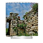 Entry To Saint John's Basilica Grounds In Selcuk-turkey Shower Curtain