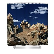 Eroded Sandstone Formations Fantasy Canyon Utah Shower Curtain