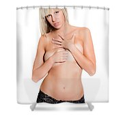 Erotic Portrait Shower Curtain