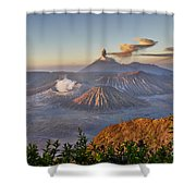 eruption at Gunung Bromo Shower Curtain