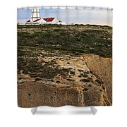 Espichel Cape Lighthouse Shower Curtain