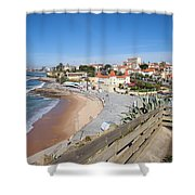 Estoril Beach In Portugal Shower Curtain