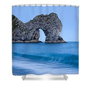 Evening At Durdle Door Shower Curtain