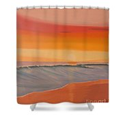 Evening At Mission Beach Shower Curtain