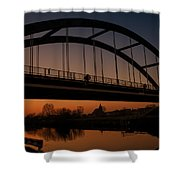 Evening Panoramic View On Pottes - Belgium Shower Curtain