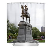 Evening With George Washington Shower Curtain