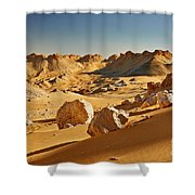 Expressive Landscape With Mountains In Egyptian Desert  Shower Curtain