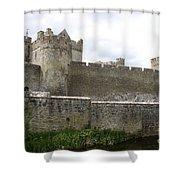 Exterior Of Cahir Castle Shower Curtain