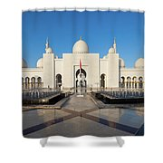 Exterior View Of Sheikh Zayed Grand Shower Curtain