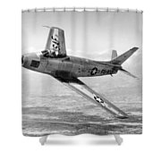 F-86 Sabre, First Swept-wing Fighter Shower Curtain