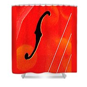 F Hole Abstract Shower Curtain