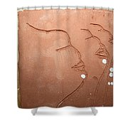 Faces - Tile Shower Curtain