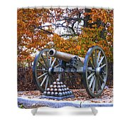 Facing Pickettes Charge Shower Curtain