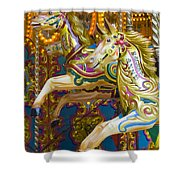 Fairground Carousel Shower Curtain