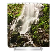 Fairy Falls In The Columbia River Gorge Area Of Oregon Shower Curtain