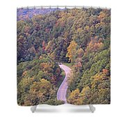 Fall Drive In The Smokies Shower Curtain