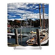 Fall In The Harbor Shower Curtain