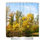 Fall On The Lake Shower Curtain
