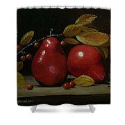 Fall Pear #2 Shower Curtain