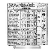 Family Almanac, 1874 Shower Curtain