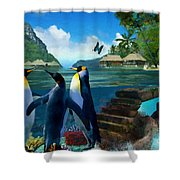 Fantasy Island Shower Curtain