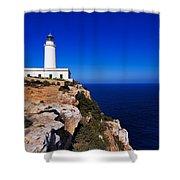 Far De La Mola On Formentera Shower Curtain