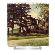 Farmhouse Landscape Shower Curtain