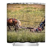 Farming With Horses Shower Curtain