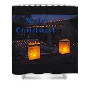 Farolitos Or Luminaria On Wall-2 Shower Curtain