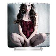 Fashion Portrait Shower Curtain