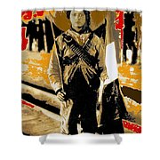 Female Soldier With Mexican Flag  Unknown Location C. 1914-2014 Shower Curtain
