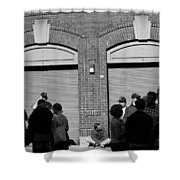Fenway Park - Fans And Locked Gate Shower Curtain