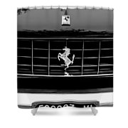 Ferrari Grille Emblem Shower Curtain