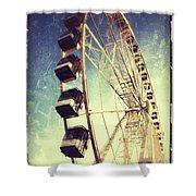 Ferris Wheel In Paris Shower Curtain