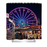 Ferris Wheel Rides And Games Shower Curtain