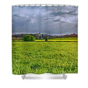 Fields Of Rapeseed In Lower Silesia Shower Curtain