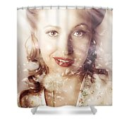 Fifties Beauty In Nature And Natural Light Shower Curtain