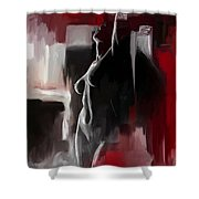 Figure Work Shower Curtain by Catf