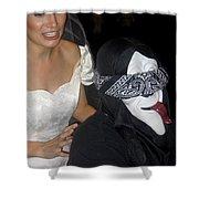 Film Homage Bela Lugosi Ed Wood Bride Of The Monster 1955 Halloween Party Casa Grande Arizona 2005 Shower Curtain