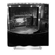 Film Homage Charles Foster Kane Orson Welles Citizen Kane 1941 Tabor Opera House 1 Leadville Co 1971 Shower Curtain